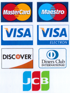 Accepted Payment Cards